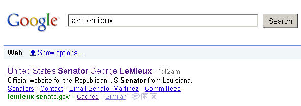 United States Senator George LeMieux -- Official website for the Republican US Senator from Louisiana